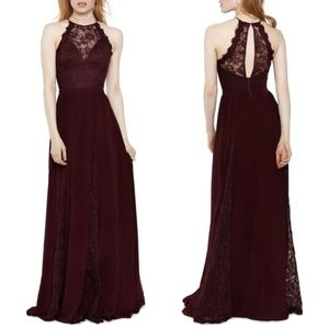 HEARTLOOM Dakota Sleeveless Lace Trim Gown Sz S